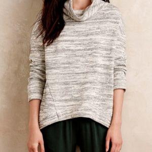 Saturday Sunday space dye gray cowl sweater XS